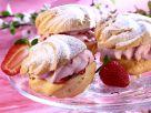Cream Puffs with Strawberry Cream Filling recipe