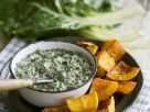 Creamed Spinach and Grilled Butternut Squash recipe