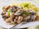 Creamy Mushroom and Chicken with Rice recipe