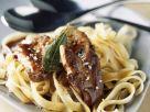 Creamy Pasta with Goose Liver recipe