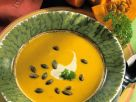 Creamy Pumpkin Soup with Roasted Pumpkin Seeds recipe