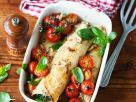 Crepes with Spinach, Tomatoes and Pine Nuts recipe