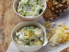 Cress and Egg Quark with Wild Garlic Goat Cheese recipe