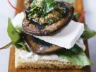 Crostini with Mushrooms and Feta Cheese recipe