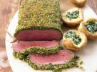 Crusted Beef with Batter Puddings recipe