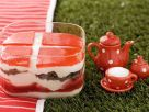 Danish Sweet Trifle with Strawberries and Pumpernickel recipe