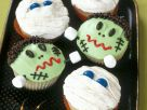 Decorated Scary Halloween Cupcakes recipe