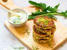 Dill Oat Patties with Dandelion Dip recipe