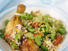 Drumsticks with Grain Salad recipe