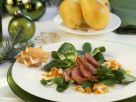 Duck Breast with Figs, Pear and Mustard Vinaigrette recipe