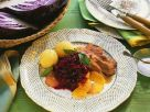 Duck Breasts with Orange-Spiced Red Cabbage recipe