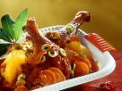 Duck Leg with Oranges and Olives recipe