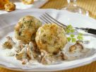 Dumplings in Chanterelle Cream Sauce recipe