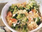 Ebly Gratin with Broccoli and Salmon recipe