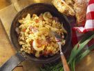 Egg Pasta with Bacon and Onion (Tarhonya) recipe