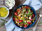 Eggplant and Tomato Salad with Chickpeas and Feta recipe