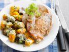 Escalopes with Gorgonzola Vegetables recipe