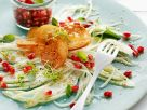 Fennel Salad with Pomegranate Seeds and Sesame Vinaigrette recipe