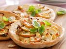 Feta and Apple Mini Pizzas recipe