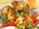Feta Stuffed Meatballs with Cucumber Salad recipe