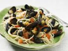 Fiery Mussel and Tomato Spaghetti recipe