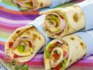 Filled Tortilla with Ham and Cheese recipe