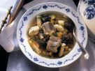 Fish Soup with Eel, Dried Fruit and Dumplings recipe