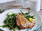 Fish Steak with Beans recipe