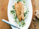 Fish Steak with Wild Garlic recipe
