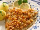 Flounder with Crayfish recipe