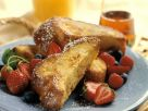 Pain Perdu with Strawberries and Blueberries recipe