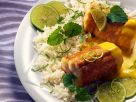 Fried Eel with Lime Sauce and Rice recipe