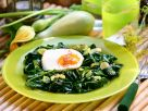 Fried Egg with Spinach recipe