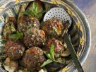 Fried Eggplant with Meatballs recipe
