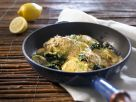 Fried Flounder with Spinach recipe