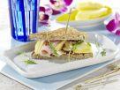 Fruity Turkey Sandwiches and Creamy Sun-Dried Tomato Sandwiches recipe