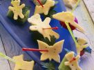 Funny Crudite and Cheese Canapes recipe