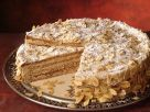 German Almond Cake with Coffee Custard recipe
