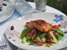 Glazed Salmon and Melon Salad recipe