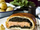 Gluten Free Salmon and Spinach Pie recipe