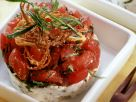 Goat Cheese and Tomato with Fried Onions recipe