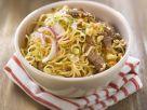 Golden Noodles with Asian Pork recipe