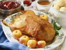 Goose with Apple Stuffing, Potato Dumplings and Red Cabbage recipe