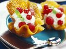 Gourmet Biscuit Baskets Filled with Cream recipe