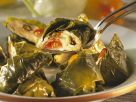 Grape Leaves with Eggplant Millet Cream Filling recipe