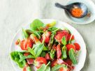 Green Asparagus and Strawberry Rhubarb Salad recipe
