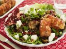 Green Salad Bacon Rolls, Goat Cheese and Pomegranate recipe
