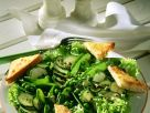Green Vegetable Salad with Cheesy Toast recipe