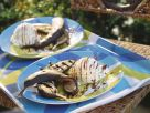 Grilled Bananas with Chocolate Sauce and Vanilla Ice Cream recipe