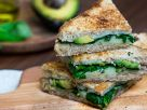 Grilled Cheese Sandwich with Avocado and Spinach recipe